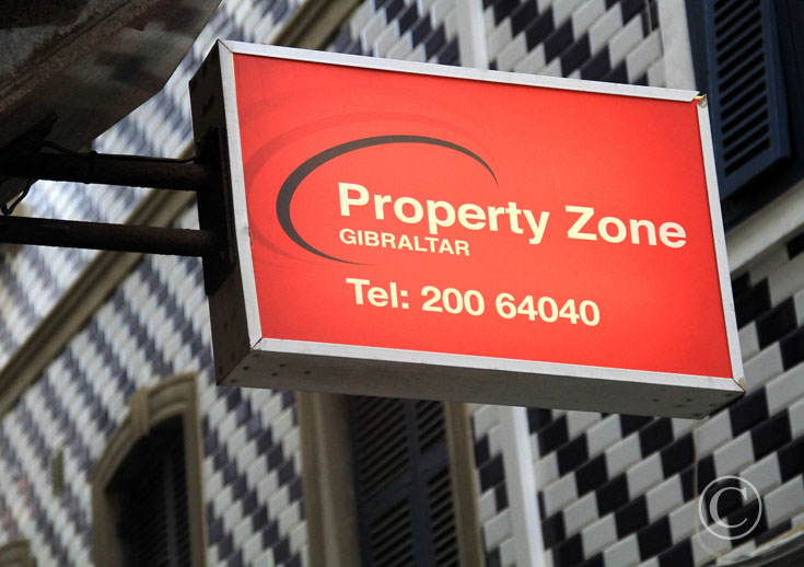 Property zone outside sign